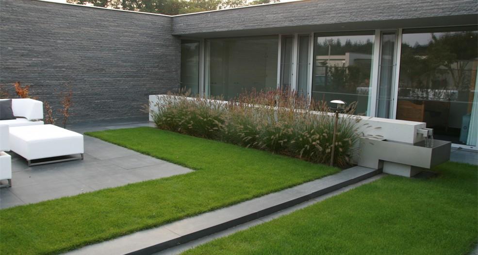 Plan10 tuin bij bungalow erik lens tuinontwerp tilburg turnhout tuinarchitect - Bungalow ontwerp hout ...